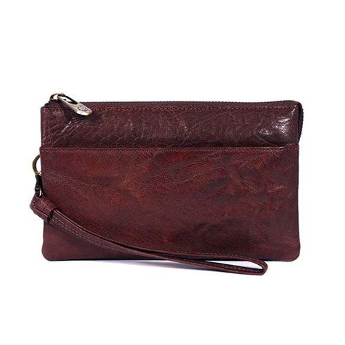 1d1e72ea4c4 Treats Clutch håndtaske i Skind - Mørk Cognac