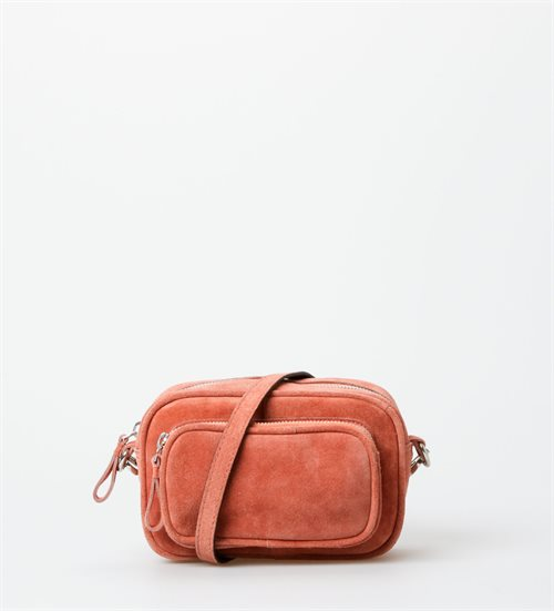 Treats crossbody, skuldertaske i ruskind, peach