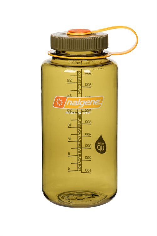 Nalgene drikkedunk, WIDE MOUTH, 500 ml. (Olive)